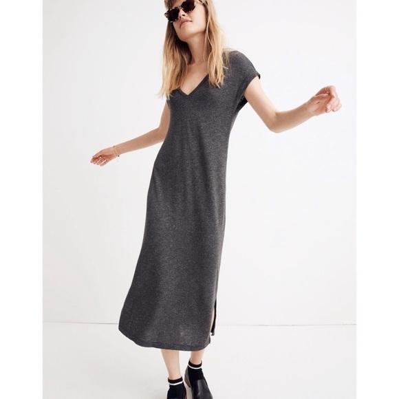 Madewell Dresses & Skirts - Madewell V-Neck Horizon Midi Dress Size Large